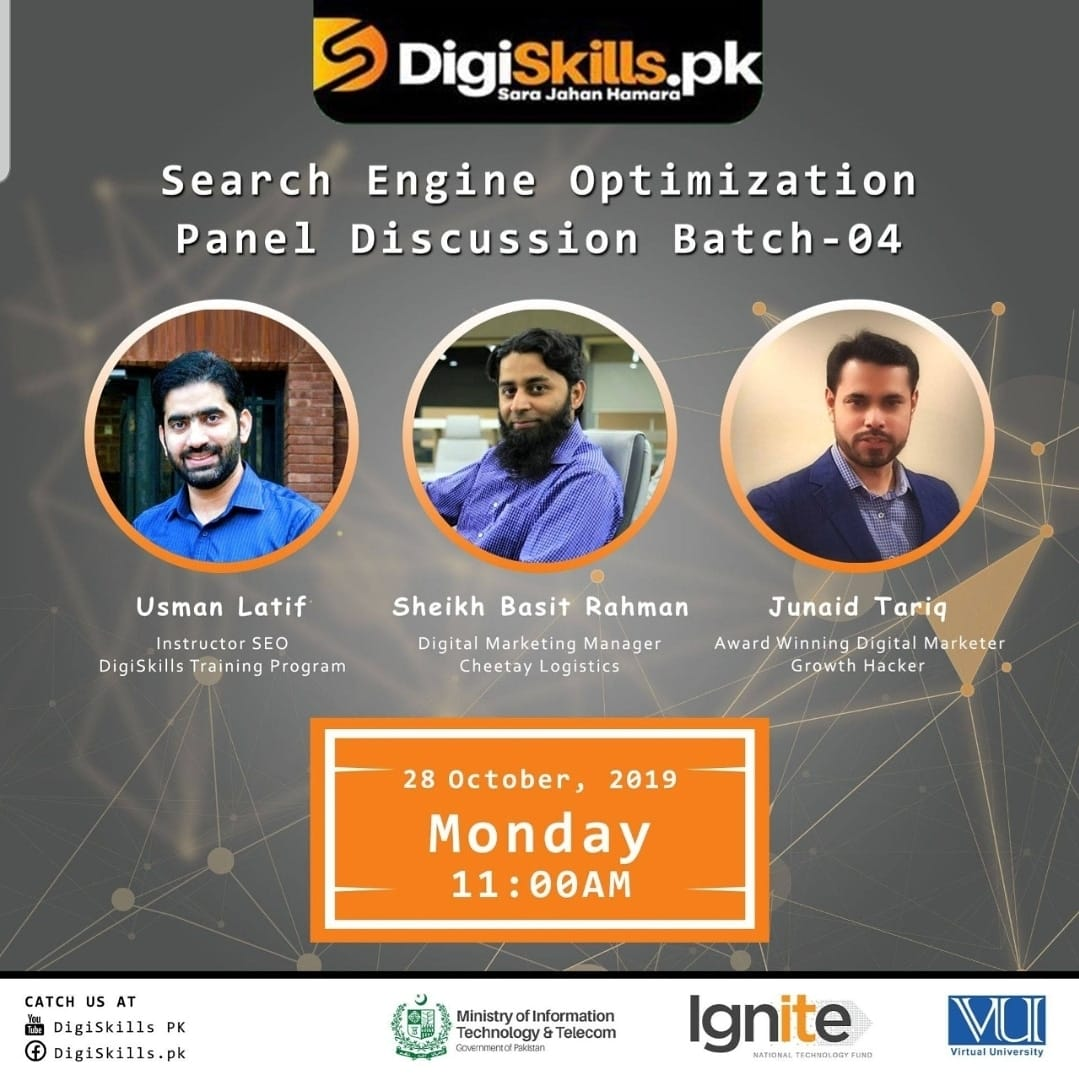 Search Engine Optimization | SEO | Junaid Tariq | Digi Skills | PITB | IGNITE | Virtual University